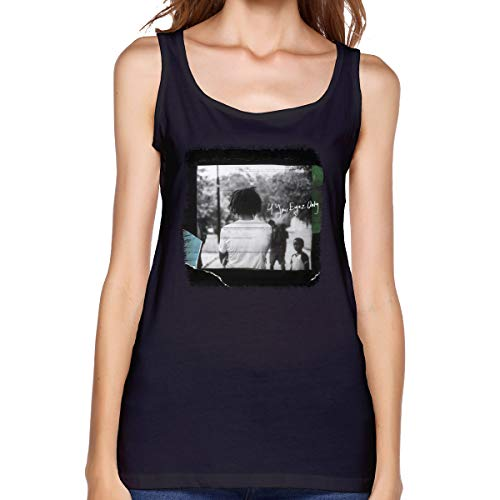 J.Cole 4 Your Eyez Only Tops Women's Sleeveless Undershirt Camisole Shirt Casual Black