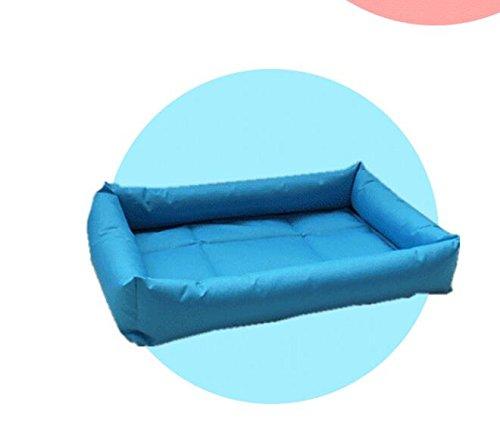 Coperta da letto per animali domestici Piccola e media dimensione di stuoia di stoffa di gatto di Oxford stuoia di canapa di animale domestico provvede le provviste di rattan di estate (colore  Blu, D