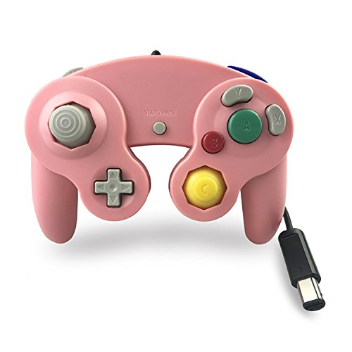Crifeir The Wired Controller for Gamecube NGC Wii Video Game (Pink)
