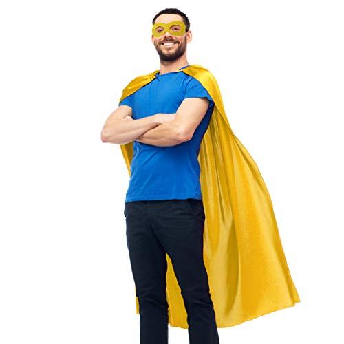 Super Hero Cape (D.Q.Z Superhero Cape for Adult with Mask Men Women Super Hero Party)