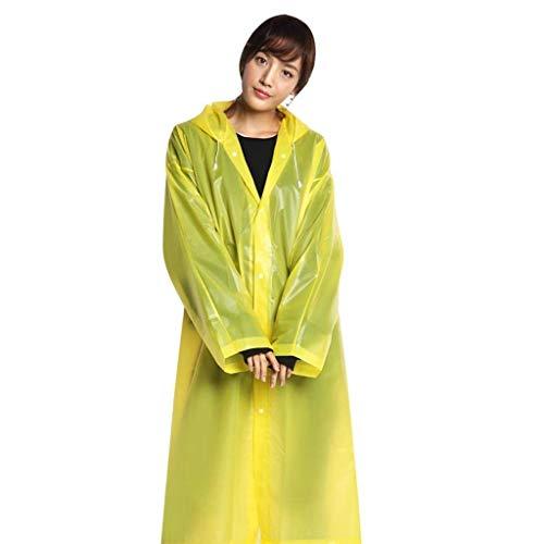 Rain Fête Raincoat Plain Serrage Eva Hooded Fashion De 5 Style Cordon Transparent Color Avec Jacket Light rXaTvxqwr