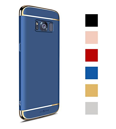 Galaxy S8 Case, 3 in 1 Hybrid Hard Plastic Case Ultra Thin and Slim Anti-Scratch Matte Finish Back Cover for Samsung Galaxy S8 (5.8'')(2017) - Blue