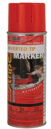 Seymour 16-654 Stripe Water Base Inverted Tip Marker, Red Fluorescent -