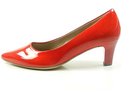 Gabor 81-250 Schuhe Damen Pumps Weite F Kaffir Lack, Schuhgröße:39;Farbe:Rot