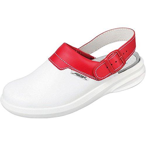 Abeba easy zuecos de colour blanco/rojo - Siehe Abbildung