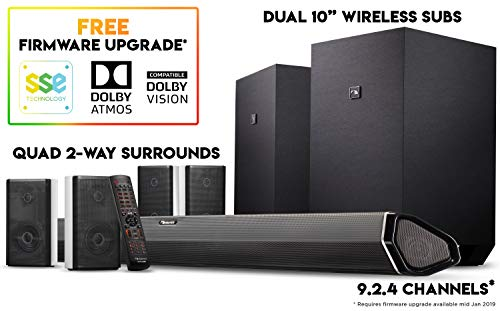 Channel Wireless Key 3 (Nakamichi Shockwafe Ultra 9.2Ch DTS:X 1000W 45-Inch Sound Bar System with Dual 10