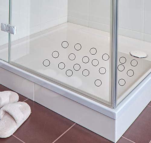 Kara.Grip 16 STK Anti Rutsch Punkte in gek/örnt farbig in 9 cm Durchmesser f/ür Ihre Dusche oder Badewanne im Badezimmer blau RAL 5015