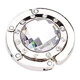 Potelin Round Foldable Purse Handbag Hanger Hook Holder - Clear