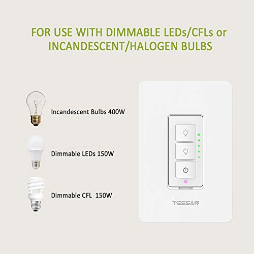 2 Pack Smart Dimmer Switch For Dimmable Led Lights  Wifi
