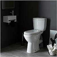 PlaneteBain Pack WC surélevé avec Cuvette anticalcaire - Sortie Horizontale