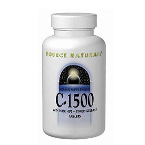 Vitamin C-1000 with Rosehips 1000mg Timed Release Source Naturals, Inc. 50 Sustained Release Tablet ()
