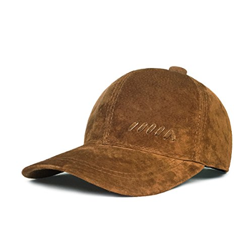 (LETHMIK Baseball Caps Vintage Adjustable Suede Leather Hats with Snapback)
