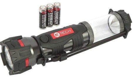 CE Tech 3-in-1 Multi-Function LED Aluminum Black Battery-Powered Lantern