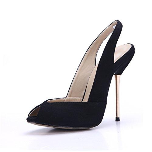 ZHZNVX alti cena con di con pesce tacchi di black bocca stiro reticolo stati da ferro sono La sandali luce sexy raso nuova scarpe che di vuoto molla entrambi 4HrAw4Xq
