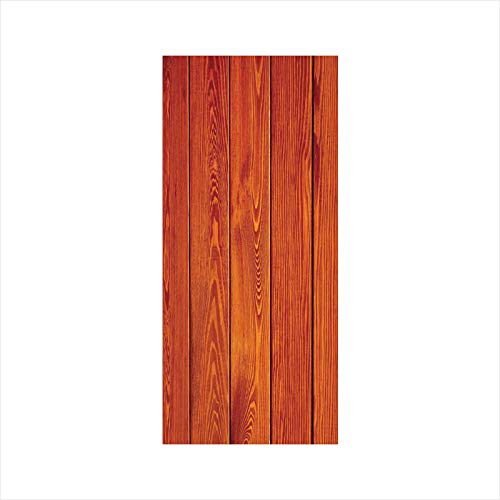 Decorative Window Film,No Glue Frosted Privacy Film,Stained Glass Door Film,Wood Texture with Natural Patterns Oak Timber Tree Floor Decorative Design Home Decorative,for Home & Office,23.6In. by 47.2