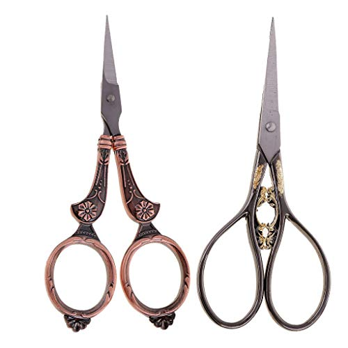 2Pcs Vintage Embroidery Sewing Craft Shears Cross Stitch Scissors Cutter