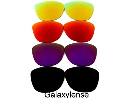Galaxy Replacement Lenses for Oakley Frogskins Black&Purple&Red&Gold 4 - Purple Oakleys And Black