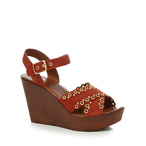 Wedge Heel Sandals Miller by Nine Savannah Ankle High 'Suki' Womens Tan Strap Apf0n