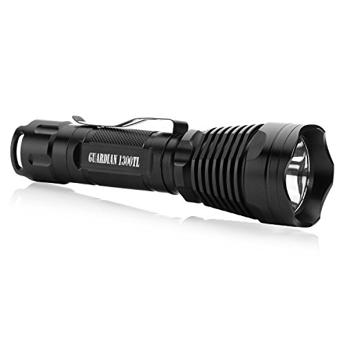 Supernova Guardian 1300TL Tactical Flashlight - Ultra Bright LED with Remote Pressure Switch