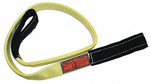 - 12 ft. Flat Eye and Eye - Type 3 Web Sling, Nylon, Number of Plies: 2, 3