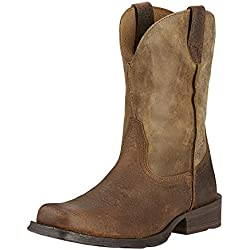 Ariat Men's Rambler Wide Square Toe Western Cowboy Boot, Earth/Brown Bomber, 10 M US
