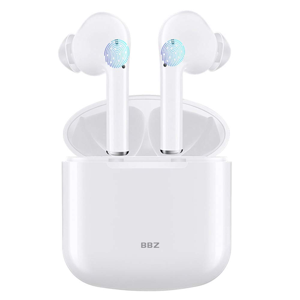 BBZ Mini Bluetooth Earbuds Wireless Earbuds Bluetooth Headphones 5.0 Auto Pairing True Stereo in-Ear Noise Canceling Earphones with Power Case Hands-Free Calls for Driving Exercise