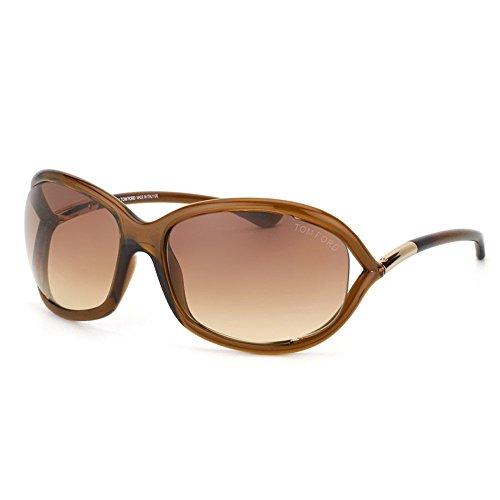 Tom Ford Jennifer FT0008 Sunglasses-692 Dark Brown (Gradient Brown - Tom Ford Brown Jennifer Sunglasses