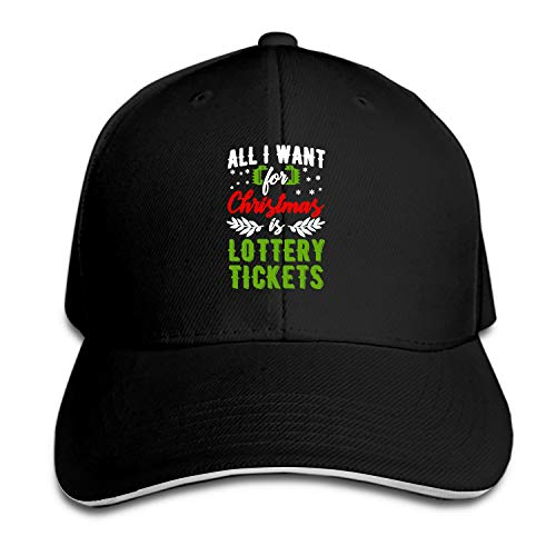 Baseball Caps, Women Men Unisex Christmas is Lottery Tickets Snapback Hats Baseball Caps ()