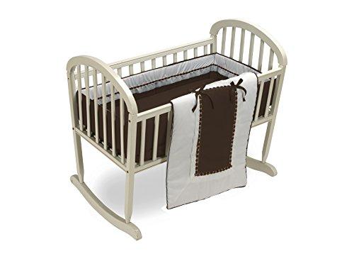 Baby Doll Bedding Royal Cradle Bedding Set, Chocolate