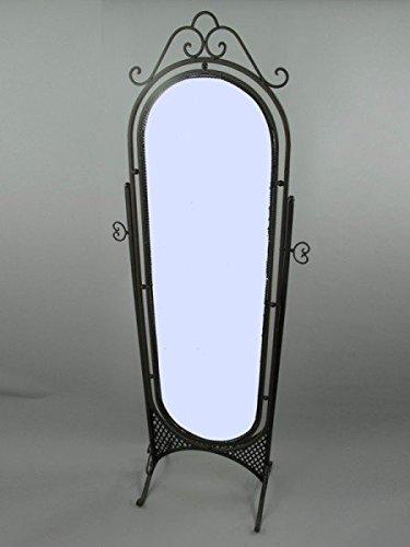 Espejo 180 x 60 cm de Hierro Negro Espejo Tocador Perchero ...