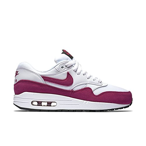 wholesale dealer 1df0a 5517f Galleon - NIKE Women s Air Max 1 Essential White Sport Fuchsia Black  Running Shoe 7 Women US