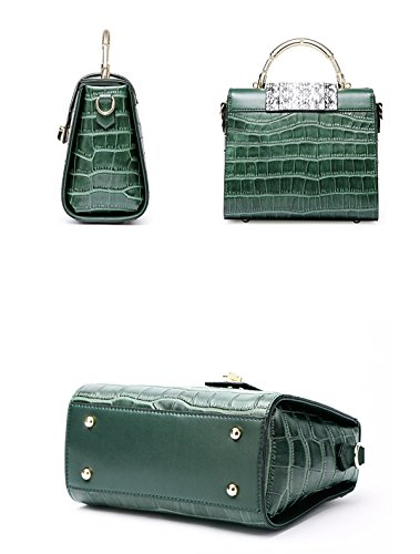 black Bag Brown Handbags Handbags Summer Women Pattern And Red Messenger Leather For Network Spring Crocodile Silver Shaped Gray Leather Green O6wIv4ndq