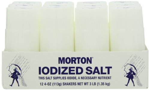 MORTON Disposable Salt Shakers, Disposable Shakers, Salt Shakers for Foodservice, A Restaurant Staple, Great for Customer Use at the Table, 12 Count (Pack of 4)