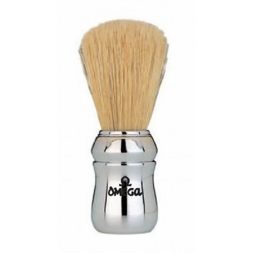 Marvy Omega Silver Handle Shaving Brush #4