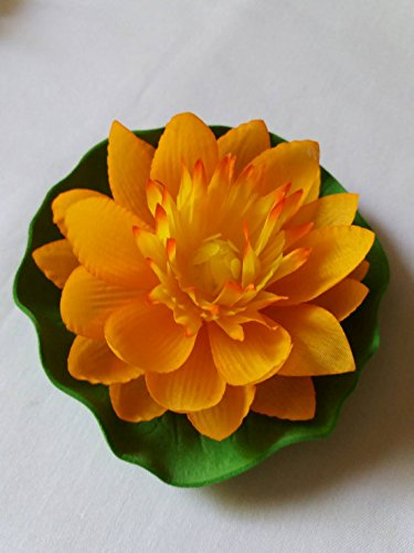 cial Orange Floating Lotus Home Garden Pond. (Pelican Planter)