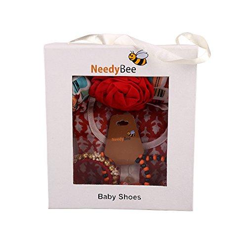 Baby Girls Rakhi Navratri, Durga Puja, Dussehra and Diwali Gift Hamper for Baby Sister Includes Bangles, Jewelry, Dress, Kurta Pyjama & Headband by Needybee