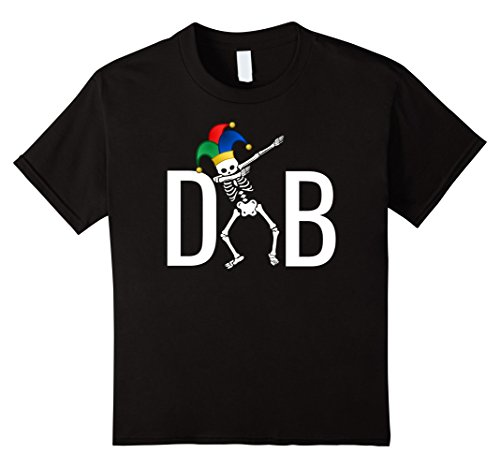 Kids Dabbing Skeleton T Shirt Dab Clown Jester Hat Hip Ho...