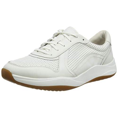 chollos oferta descuentos barato Clarks Sift Speed Zapatillas Hombre Blanco White Leather White Leather 39 5 EU