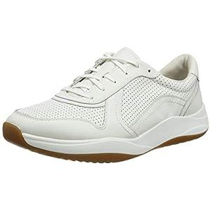 Clarks Sift Speed, Zapatillas Hombre, Blanco (White Leather White Leather), 42.5 EU