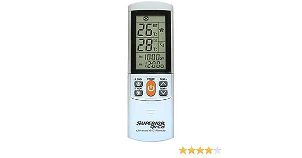 Mando a Distancia Universal para Aire Acondicionado Airco Plus Modelo 4: Amazon.es: Electrónica