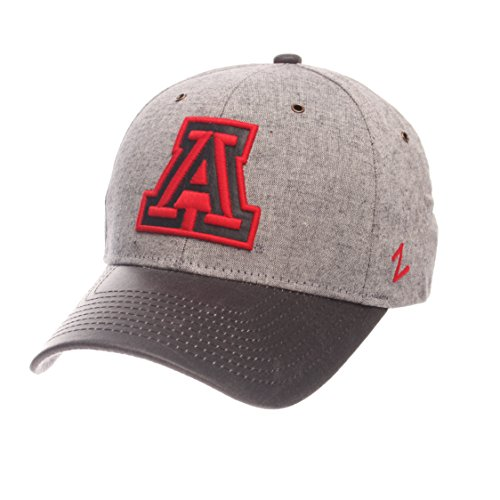 Zephyr NCAA Arizona Wildcats Men's The Supreme Cap, Adjustable, Gray -