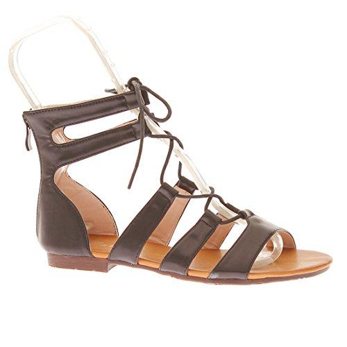CATISA-SD3_WH766-Sandale-Femme - Noir, 37