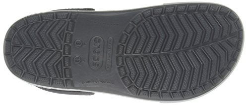 crocs 12836 - Zuecos, Unisex Nero (Charcoal/Sea Blue)