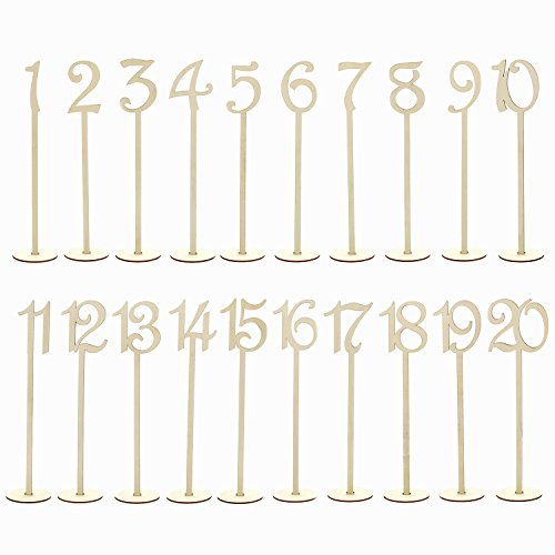 7Penn | Wooden Table Number Stands 1-20 – Wedding Receptions, Restaurants, and Parties by 7Penn