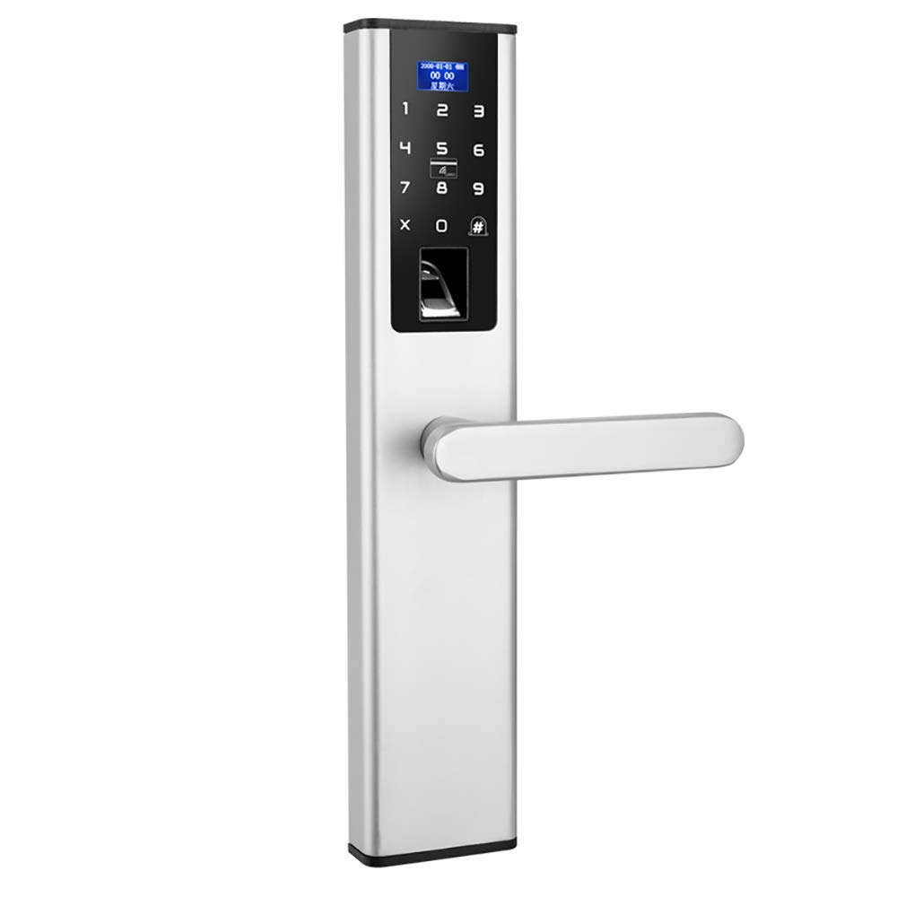 BLWX - Smart Lock-zinc Alloy-wearing And Scratch-resistant Password Lock Fingerprint Lock Home Security Door Electronic Lock Fingerprint Password Lock Remote Door Lock Waterproof - Size: 37X7.5cm Door