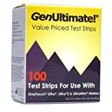 GenUltimate Blood Glucose Test Strips for Use with