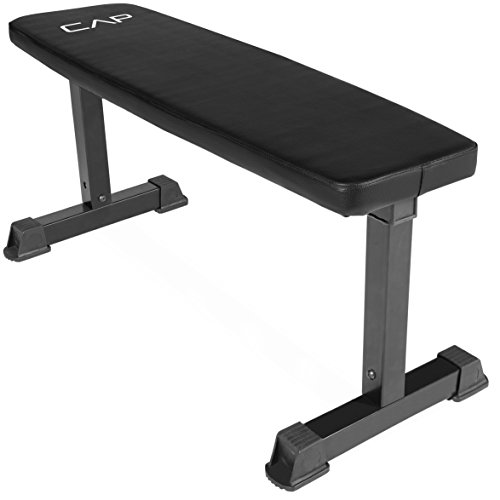CAP Barbell Flat Weight Bench, Black