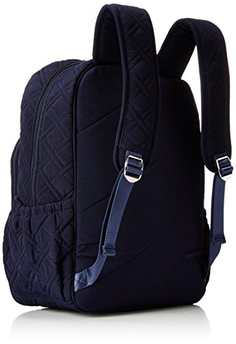 Women's Campus Tech Backpack, Microfiber, Classic Navy by Vera Bradley (Image #2)