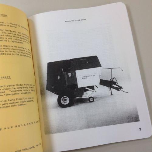 Amazon com: New Holland Service Parts Catalog Manual Model