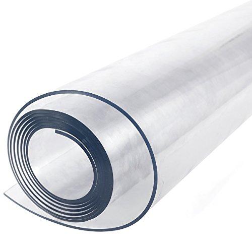 Protector de mesa de plastico transparente resistente de 2 mm para manteles de 160 x 90 cm